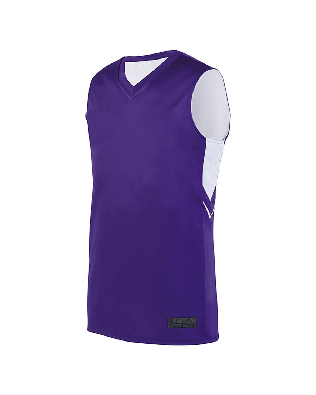 1166 Augusta Sportswear PURPLE/ WHITE