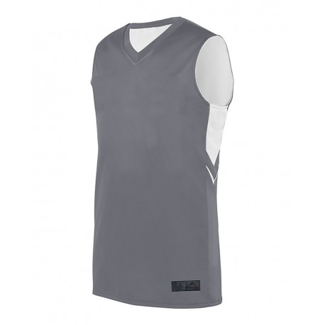 1167 Augusta Sportswear 1167 Youth Alley-Oop Reversible Jersey GRAPHITE/ WHITE
