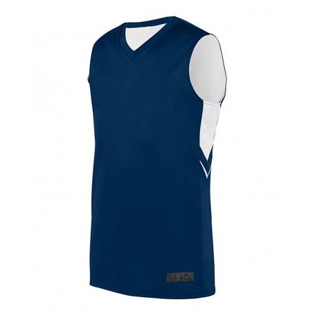 1167 Augusta Sportswear 1167 Youth Alley-Oop Reversible Jersey NAVY/ WHITE