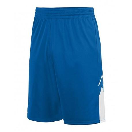 1168 Augusta Sportswear 1168 Alley-Oop Reversible Shorts ROYAL/ WHITE