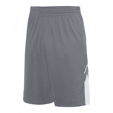 1169 Augusta Sportswear 1169 Youth Alley-Oop Reversible Shorts GRAPHITE/ WHITE