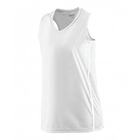 1182 Augusta Sportswear 1182 Women's Winning Streak Racerback Jersey WHITE/ WHITE