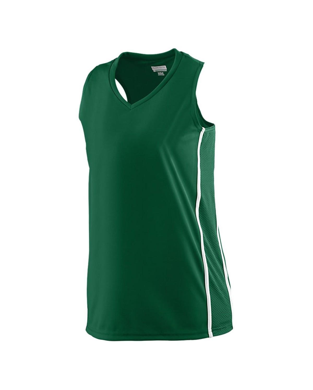 1182 Augusta Sportswear Dark Green/ White