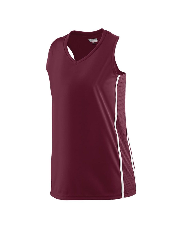 1182 Augusta Sportswear MAROON/ WHITE