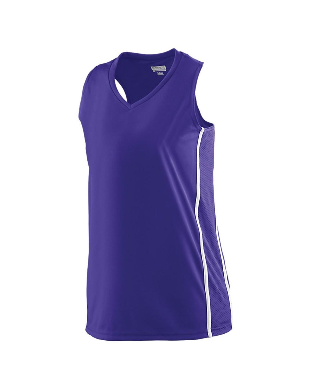 1182 Augusta Sportswear PURPLE/ WHITE