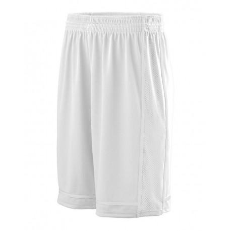 1185 Augusta Sportswear 1185 Winning Streak Shorts WHITE/ WHITE