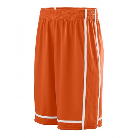 1186 Augusta Sportswear 1186 Youth Winning Streak Shorts ORANGE/ WHITE