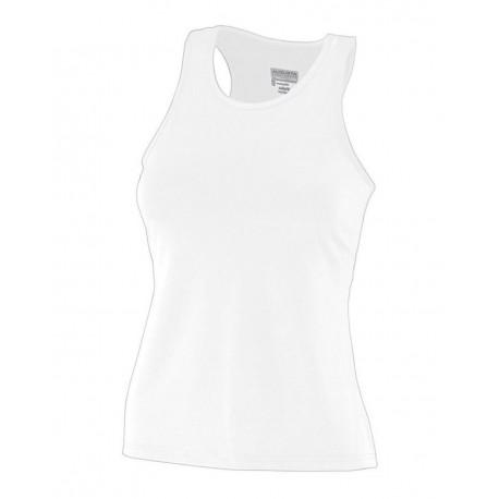 1203 Augusta Sportswear 1203 Girls' Solid Racerback Tank WHITE