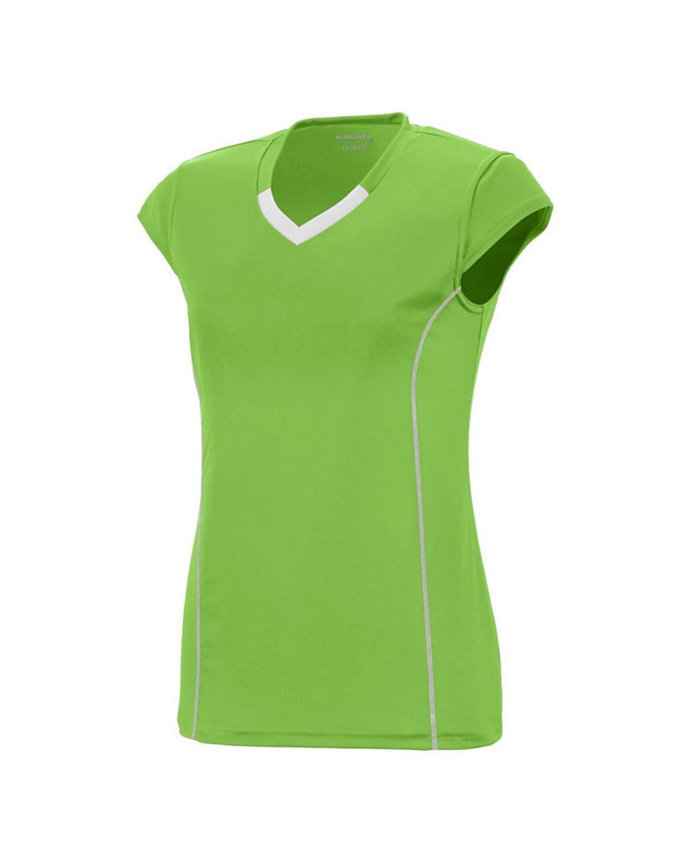1218 Augusta Sportswear LIME/ WHITE