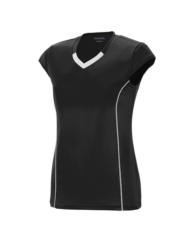 1218 Augusta Sportswear BLACK/ WHITE