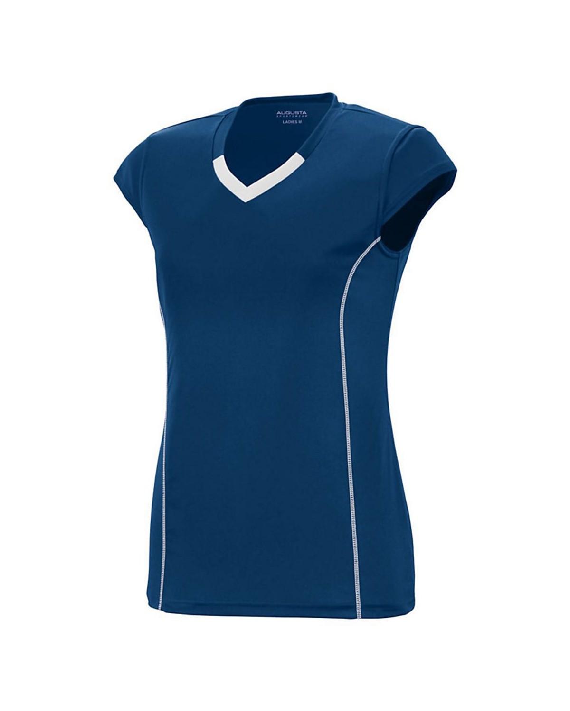1218 Augusta Sportswear NAVY/ WHITE