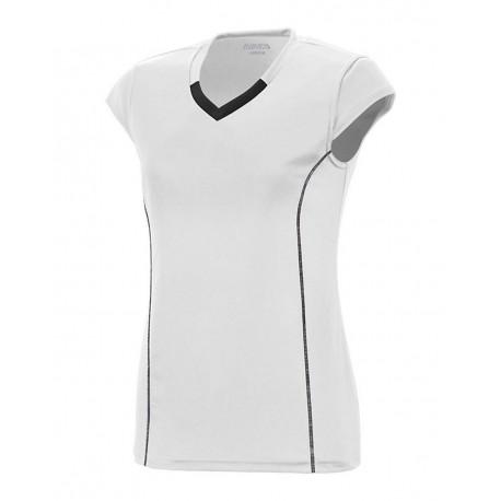 1219 Augusta Sportswear 1219 Girls' Blash Jersey WHITE/ BLACK