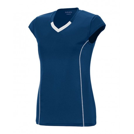 1219 Augusta Sportswear 1219 Girls' Blash Jersey NAVY/ WHITE