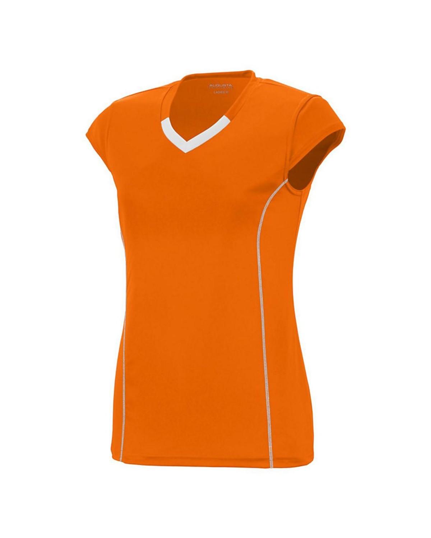 1219 Augusta Sportswear Power Orange/ White