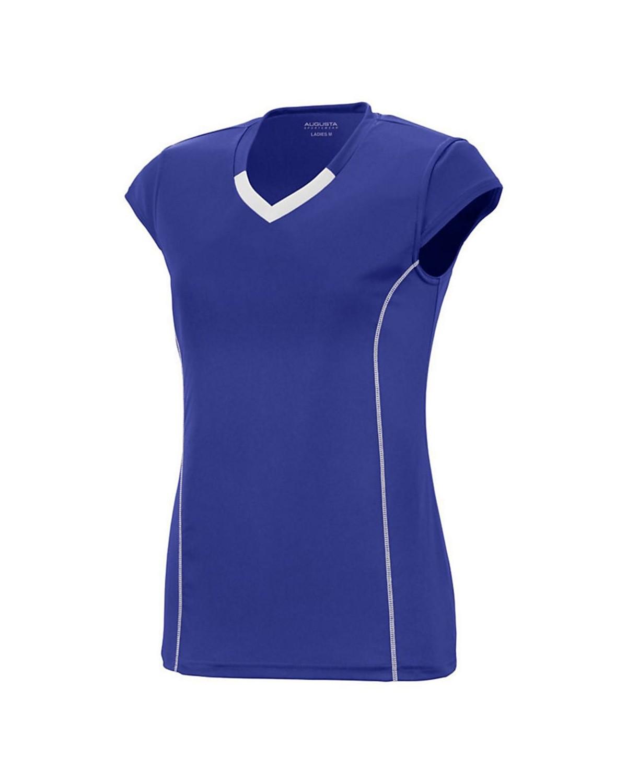 1219 Augusta Sportswear PURPLE/ WHITE