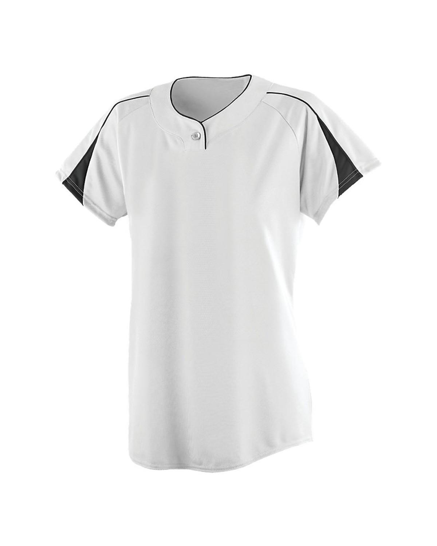 1225 Augusta Sportswear WHITE/ BLACK