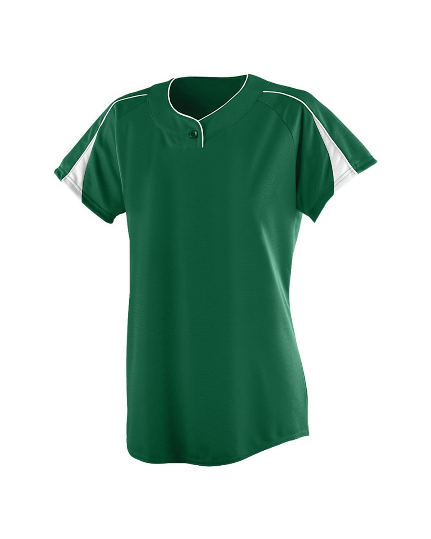 1225 Augusta Sportswear Dark Green/ White