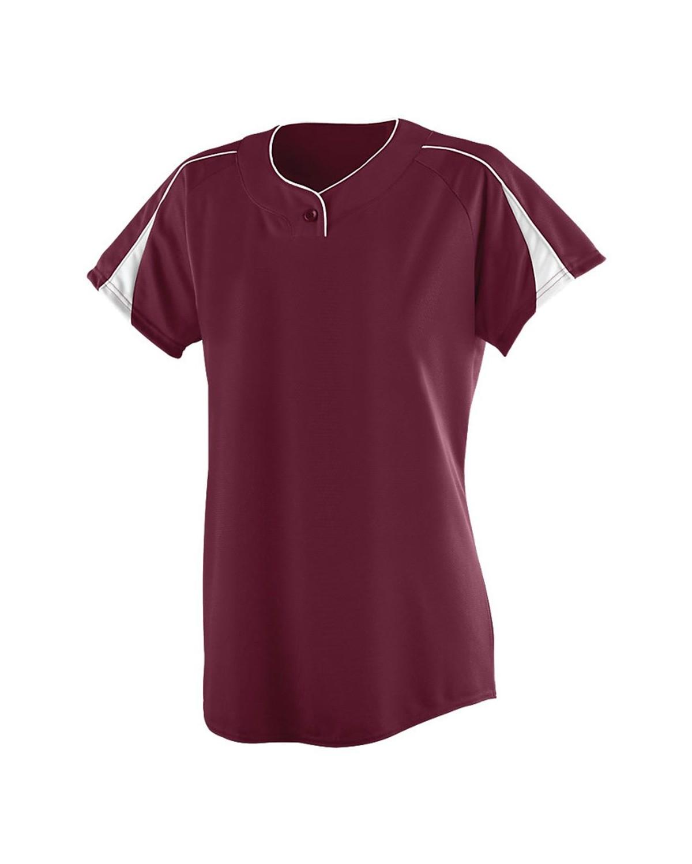 1225 Augusta Sportswear MAROON/ WHITE
