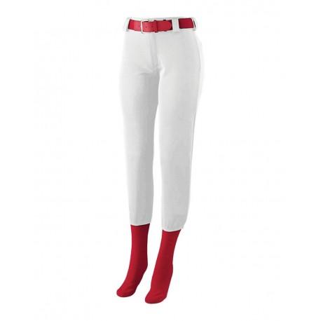 1241 Augusta Sportswear 1241 Girls' Low Rise Homerun Pants WHITE