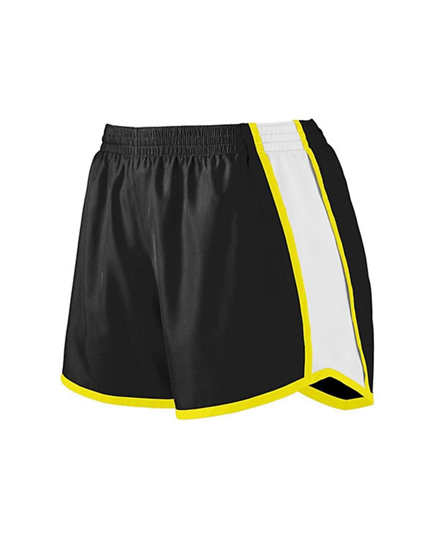 1265 Augusta Sportswear Black/ White/ Power Yellow