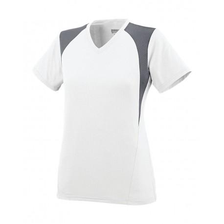 1295 Augusta Sportswear 1295 Women's Mystic Jersey White/ Graphite/ White