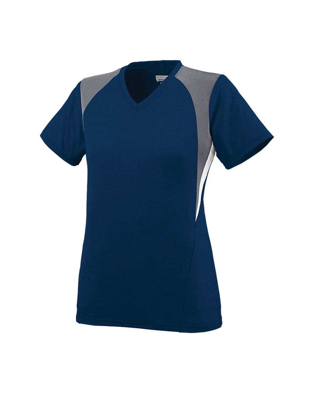 1295 Augusta Sportswear Navy/ Graphite/ White