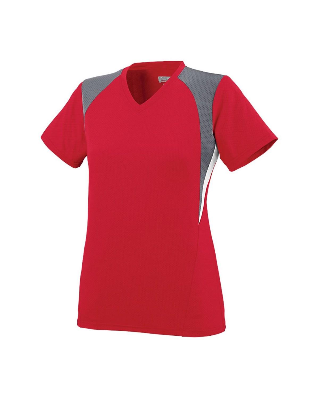 1295 Augusta Sportswear Red/ Graphite/ White