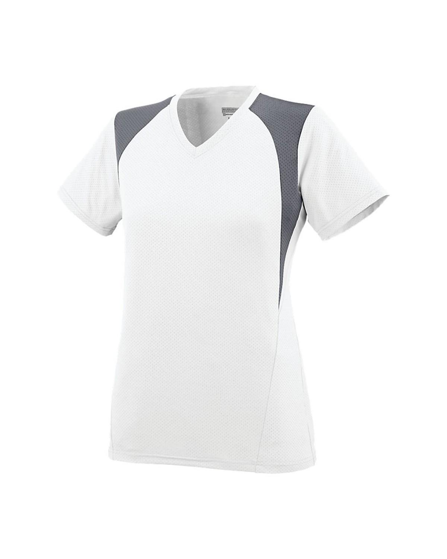 1296 Augusta Sportswear White/ Graphite/ White