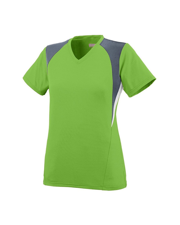 1296 Augusta Sportswear Lime/ Graphite/ White
