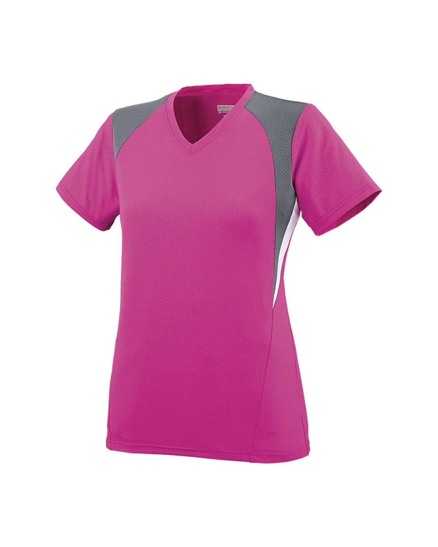 1296 Augusta Sportswear Power Pink/ Graphite/ White