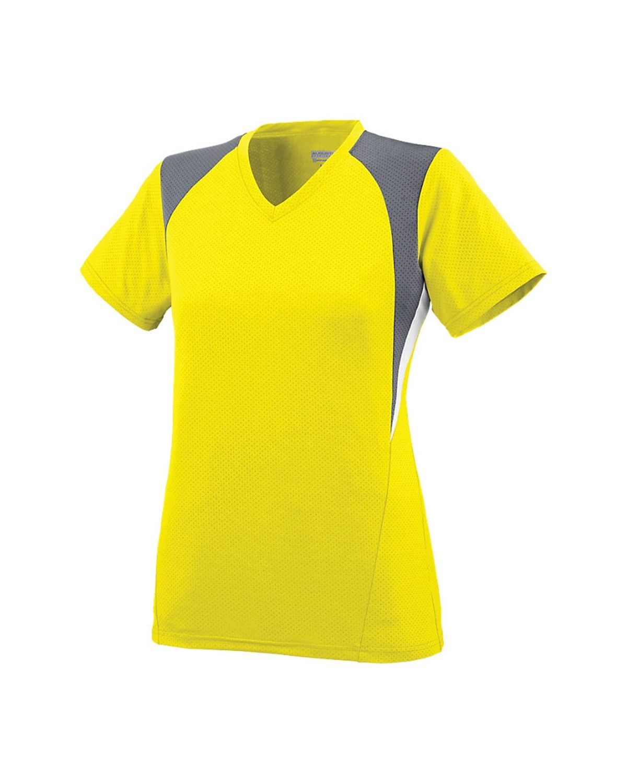 1296 Augusta Sportswear Power Yellow/ Graphite/ White