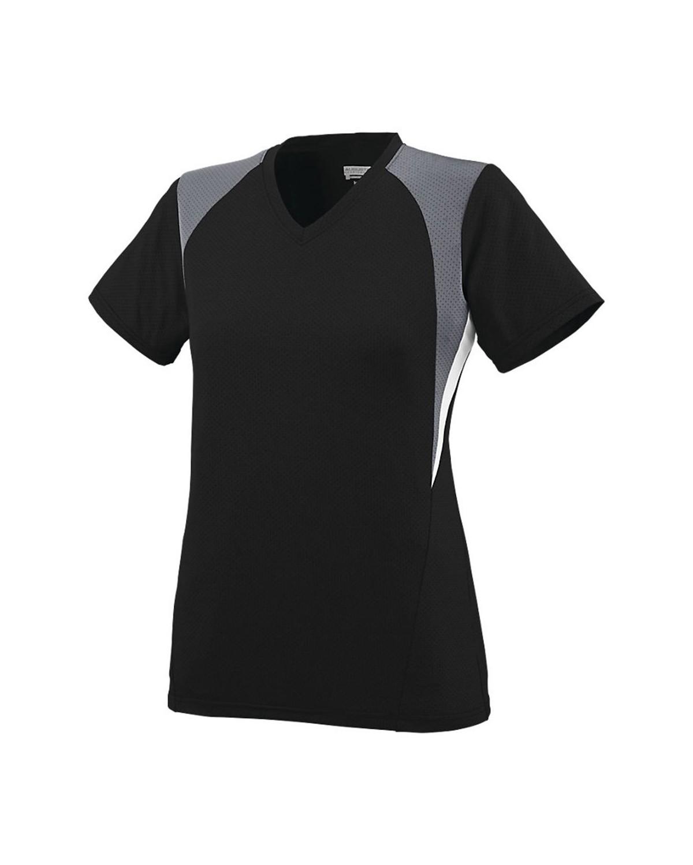 1296 Augusta Sportswear Black/ Graphite/ White