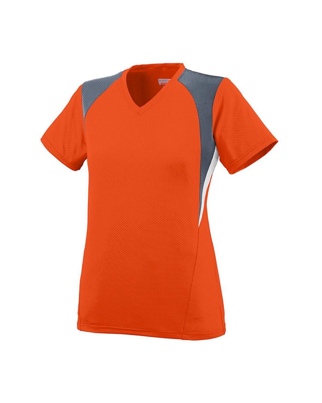 1296 Augusta Sportswear Orange/ Graphite/ White