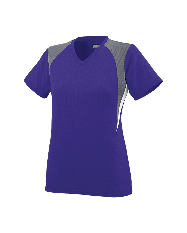 1296 Augusta Sportswear Purple/ Graphite/ White