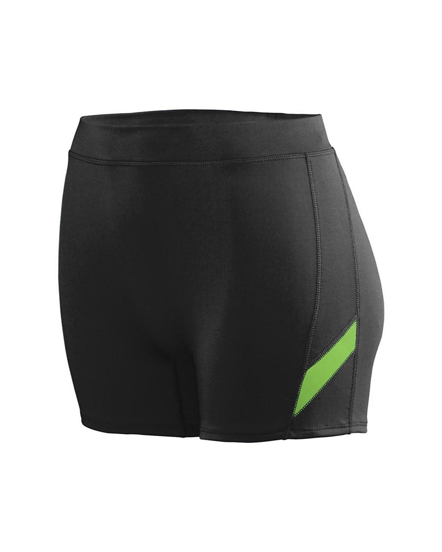 1335 Augusta Sportswear Black/ Lime