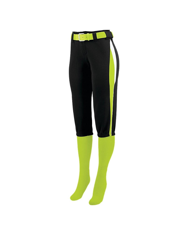 1340 Augusta Sportswear Black/ Lime/ White