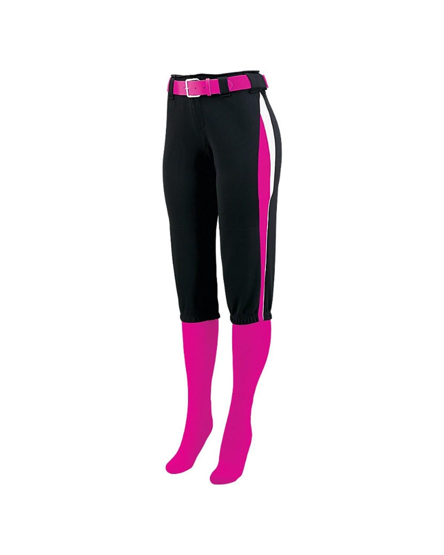 1340 Augusta Sportswear Black/ Power Pink/ White