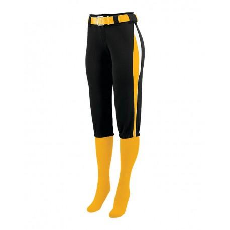 1340 Augusta Sportswear 1340 Women's Comet Pants Black/ Gold/ White
