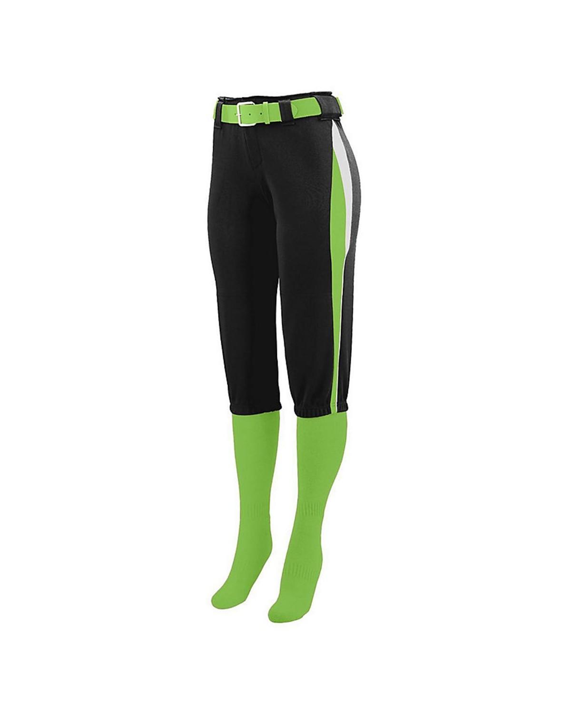 1341 Augusta Sportswear Black/ Lime/ White