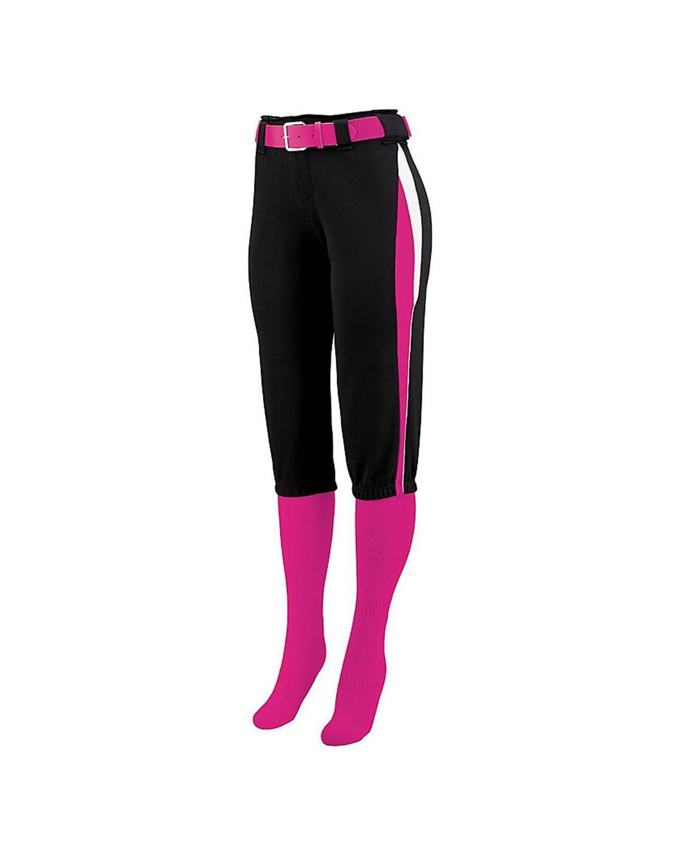 1341 Augusta Sportswear Black/ Power Pink/ White