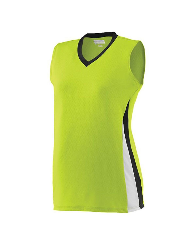 1355 Augusta Sportswear Lime/ Black/ White