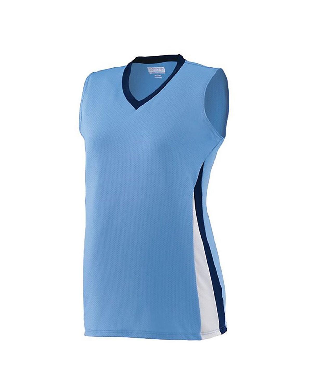 1355 Augusta Sportswear Columbia Blue/ Navy/ White