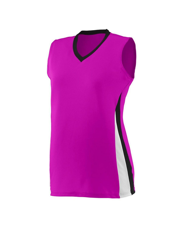 1355 Augusta Sportswear Power Pink/ Black/ White