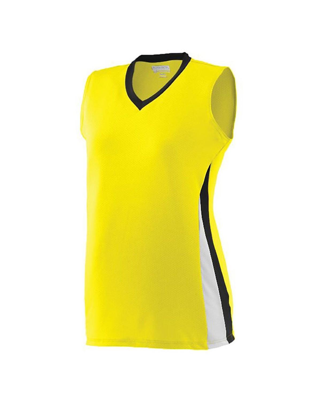 1355 Augusta Sportswear Power Yellow/ Black/ White