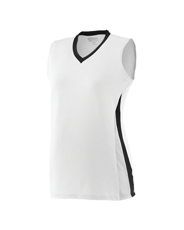1355 Augusta Sportswear White/ Black/ White