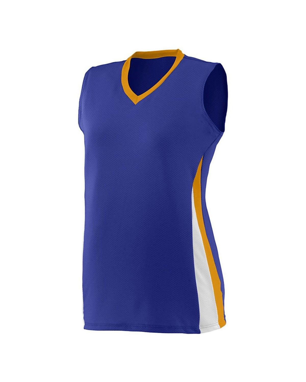 1355 Augusta Sportswear Purple/ Gold/ White