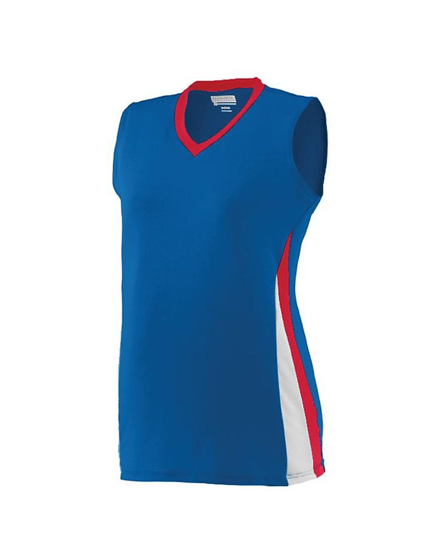 1355 Augusta Sportswear Royal/ Red/ White