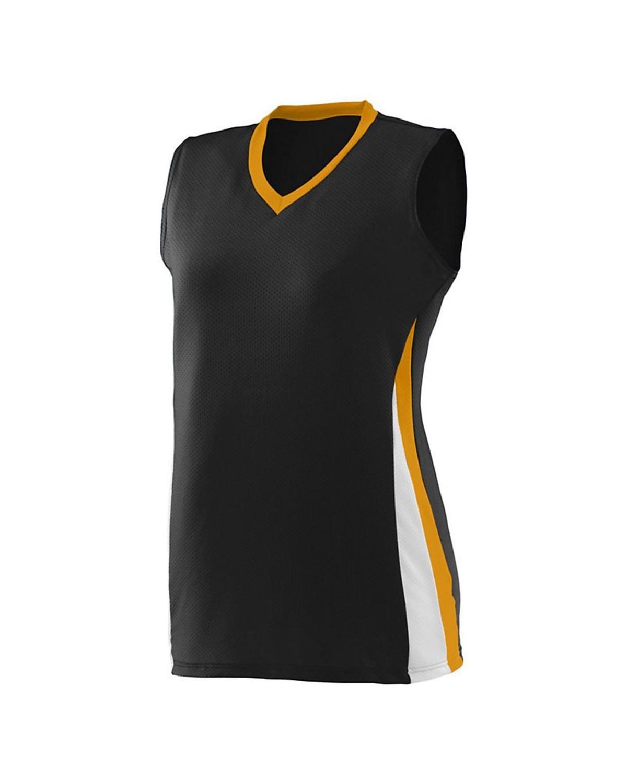 1355 Augusta Sportswear Black/ Gold/ White