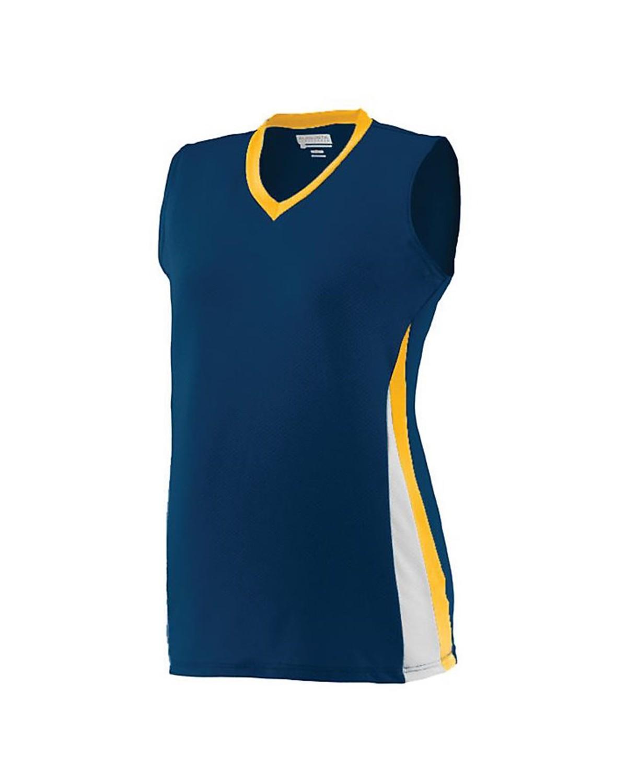 1355 Augusta Sportswear Navy/ Gold/ White