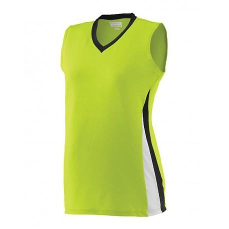 1356 Augusta Sportswear 1356 Girls' Tornado Jersey Lime/ Black/ White